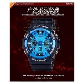 三達表多 高檔雙顯夜光電子表防水戶外 表軍事男士潛水手表