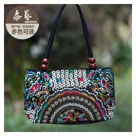 雲南民族風包包刺繡包雙面繡花包復古帆布女士手提包小包包郵