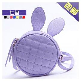 2014 女包 可愛兔子耳朵菱格包圓形單肩手提女士小包包