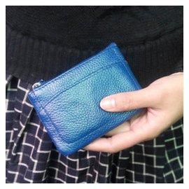 2014簡潔超薄真皮荔枝紋迷你多層短款拉鏈女士零錢包鑰匙包卡包