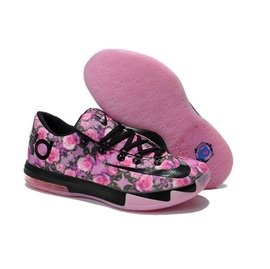 NIKE KD6 杜蘭特6代 新配色 籃球鞋 低幫抗震 全明星戰靴 鞋 跑步鞋 黑玫瑰 4