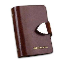 卡片包卡包 男式女式款卡商務卡套 男士真皮名片夾20卡位 棗紅色木紋
