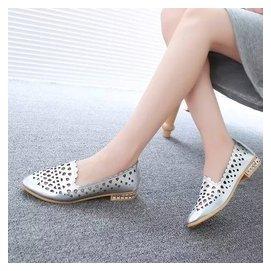 2015  平跟平底涼鞋女士 潮尖頭縷空洞洞鞋學生女鞋