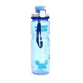 正品 迪士尼學生直飲壺米奇兒童小孩卡通水壺小學生水杯大容量800塑料杯 藍色米奇