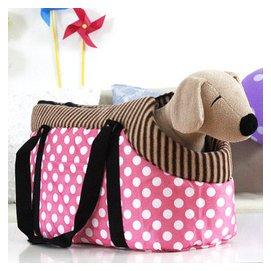 寵物包 狗包 貓包 狗狗背包 露狗頭手拎包  包 粉色圓點 ~40^~20^~16