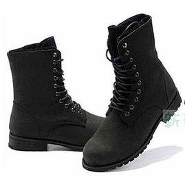 獨特 復古馬丁靴軍靴男靴子 靴男士高幫長筒靴 潮流雙層皮靴馬汀靴英倫皮靴子 風牛仔靴多重綁