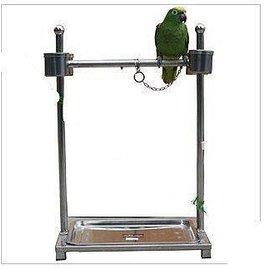 特惠不�袗�鸚鵡籠 鳥籠 鳥架子 鸚鵡架~~鸚鵡站架^(雙管^)TTSG八哥籠鷯哥籠鳥屋可