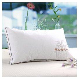 全棉枕芯單人雙人羽絲絨枕頭五星級店羽絨保健枕