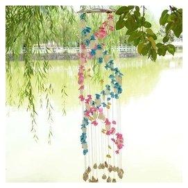 風鈴門飾掛飾 家居裝飾 23支彩地中海風情彩色貝殼