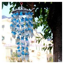 藍色貝殼風鈴 日式江風鈴掛飾門飾兒童房間學校宿舍裝飾品