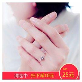 復古克羅心十字架戒指 925純銀日韓潮人做舊泰銀食指指環 女