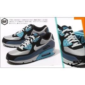 NIKE AIR MAX 90 ESSENTIAL 灰黑藍 阿凡達 復古 慢跑鞋 5373