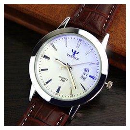 296 商務皮帶腕表 學生男女士情侶一對表高檔藍光防水日歷手表