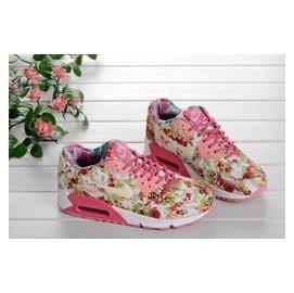 WMNS NIKE AIR MAX 90 五彩繽紛玫瑰印花系列 紅玫瑰 慢跑鞋 女鞋