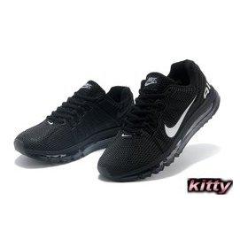 NIKE AIR MAX KPU高頻透氣跑步鞋 情侶款 黑白