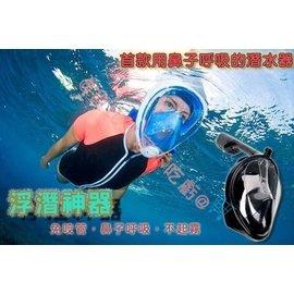 ~貨比三家不吃虧~ 浮潛呼吸面罩 口鼻呼吸 浮潛 游泳 潛水蛙鏡 浮淺 泳衣 防水袋 非