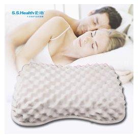 泰國100^%純天然乳膠枕保健枕 天鵝絨枕套月牙面包枕枕巾6040