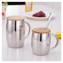 不鏽鋼杯 水杯 雙層啤杯 水杯子 茶杯 吧啤杯耐高溫 大號