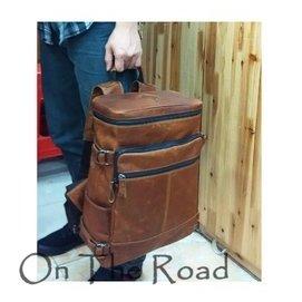 男士雙肩包真皮牛皮復古 油皮旅行包 多 水桶做舊背包