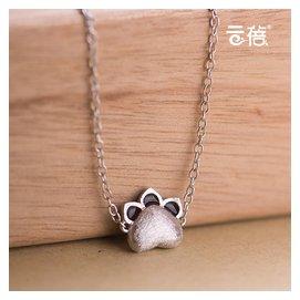 超萌 貓爪925純銀腳鏈女 可愛甜美日韓貓咪飾品學生