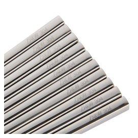 萬年利 304不鏽鋼筷子餐具套裝十雙盒裝 全方形防滑中空防燙金屬筷款全方形款半方形 款全方