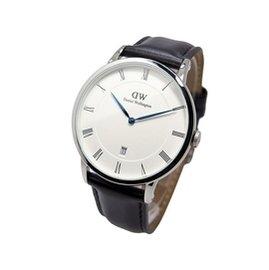 可 DANIEL WELLINGTON DW 手錶 DAPPER 38mm 皮錶帶 藍鋼