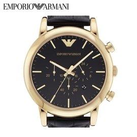Armani 阿瑪尼男錶真皮帶 石英錶 AR1917亞曼尼 腕錶