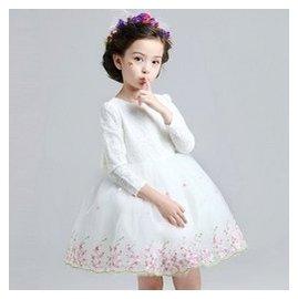 女童6公主長袖連衣裙8兒童春夏款禮服裙中大童 蓬蓬裙子5~12歲
