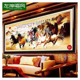 款5精準印花八駿圖馬到成功十字繡國畫八駿全圖八馬奔騰客廳