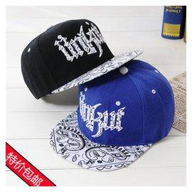 棒球帽子男女春夏潮街舞帽子 男士 夏天平沿嘻哈情侶帽鴨舌帽
