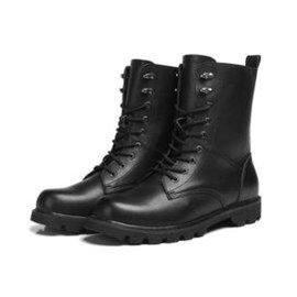 鼕季潮流男士馬丁靴情侶款真皮工裝軍靴男靴子 加大碼男鞋棉靴
