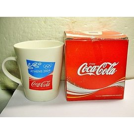 A95皮. 企業寶寶玩偶娃娃  附盒少見2004年雅典奧運會 可樂 Coca Cola ~