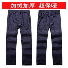 秋鼕男式加絨加厚 長褲保暖褲 戶外抓絨男褲大碼衛褲工作褲