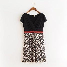夏裝 拉夏貝爾 100^%正品 剪標波點洋裝連衣裙 50
