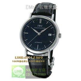 手錶萬國IWC柏濤菲諾系列IW356305腕表 精鋼黑面 日期 自動機械男女手表39mm