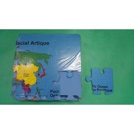 ^(明珍^) EVA 英語世界地圖地墊 54片入裝 10^~10^~1.2cm ^(外銷A