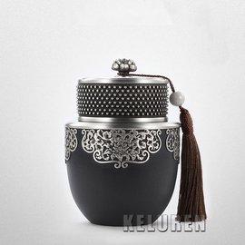 錫罐馬來西亞純錫茶葉罐錫器禪定密封金屬儲茶罐高檔茶具