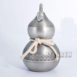 正品錫罐福如海馬來西亞純錫茶葉罐大號金屬密封茶罐高檔錫器茶具