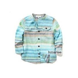 2014秋裝 純棉兒童條紋襯衫男童寶寶超軟大童立領長袖襯衣