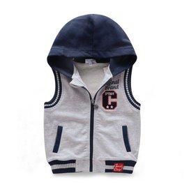 2014秋裝 潮 寶寶兒童馬夾背心 男童女童連帽開衫馬甲
