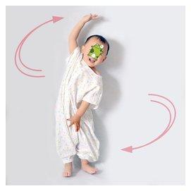 洛斯小丁夏款嬰兒寶寶純棉全棉雙層紗布睡袋睡衣分腿式睡袍