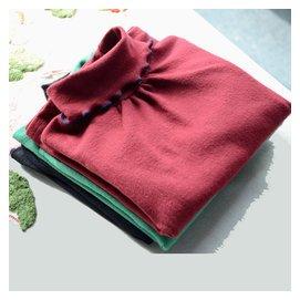 女童高領打底衫純棉兒童長袖t恤純色韓國 百搭女寶寶秋鼕上衣