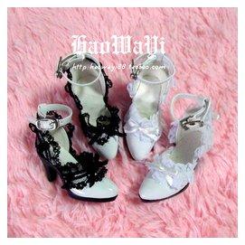^~bjd好娃衣^~bjd娃娃鞋子 3分女尺寸高跟鞋 白色淑女款 非人類