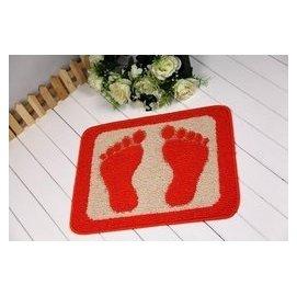 步步高地墊 進門墊衛生間防滑墊吸水地毯腳丫墊 紫羅蘭 桔色 F4