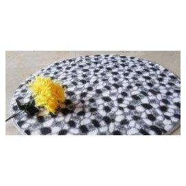暢銷 絲毛圓形^(心形^)地毯 床前毯 80^~80 90^~90100^~100CM可訂