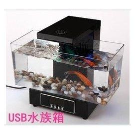 送禮 迷你電子魚缸 USB水族箱 生日 兒童節 父親節贈品 買就送水草 鵝卵石 usb連接