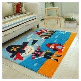 高檔 ?綸印花 客廳臥室地毯 動漫卡通汽車地毯 海盜船長 F38