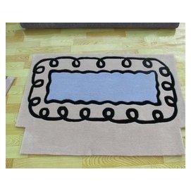 可訂制任意尺寸玄關地毯 地墊 純 晴綸電梯毯 120^~120cm 純 ?綸 圖案4 F4