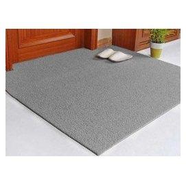 可剪裁防水地墊定做門墊 定制進門墊地毯 PVC絲圈防滑腳墊子 灰單色 F41