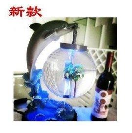 Trend桌上轉運魚缸 迷你小魚缸 夜明珠生態魚缸 水族箱 辦公室客廳